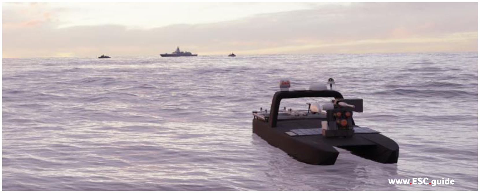MANTAS T38 in advance of fleet performing situational awareness.