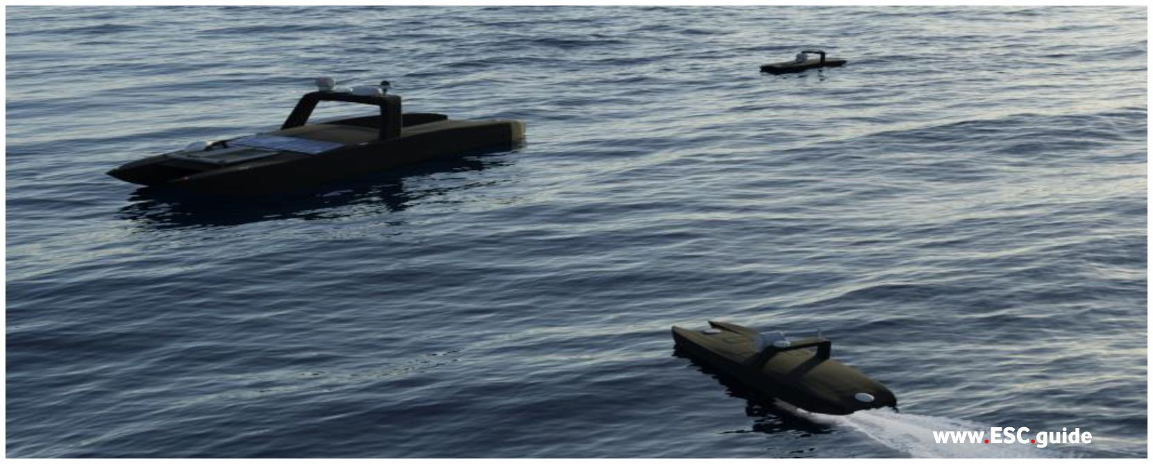 After mission, MANTAS T12s return to MANTAS T38 Scout.