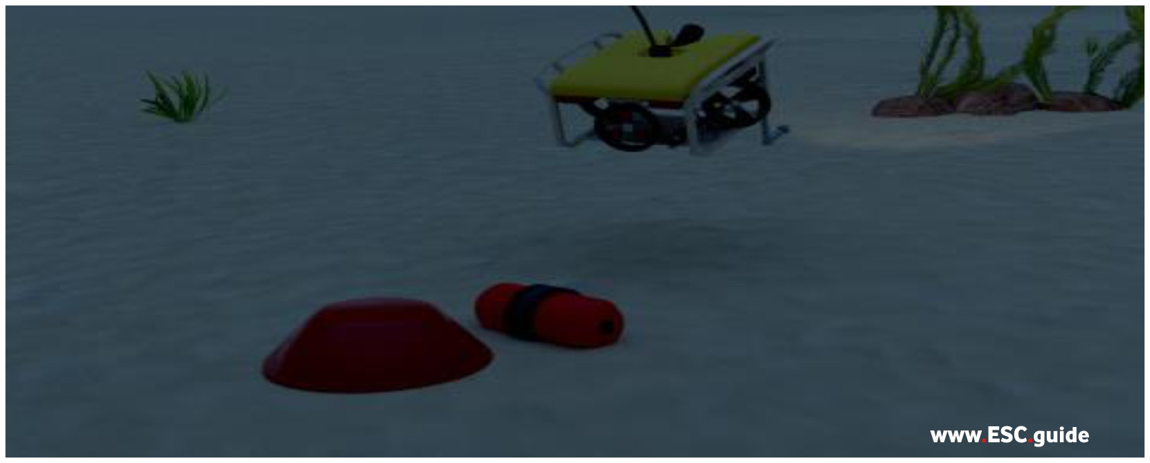 UUV and ROV are redeployed onto MANTAS and move away from identified mine.