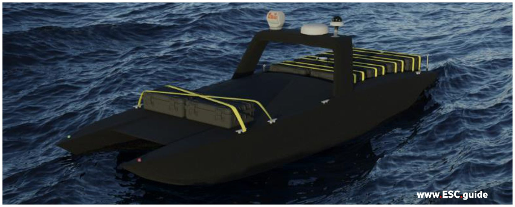 Configuration: MANTAS T38 Transporter rigged for transport from ship to shore or ship to ship.