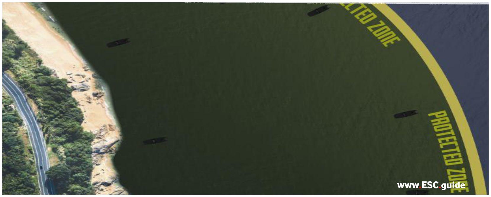 MANTAS T38 swarm is strategically placed around key islands.