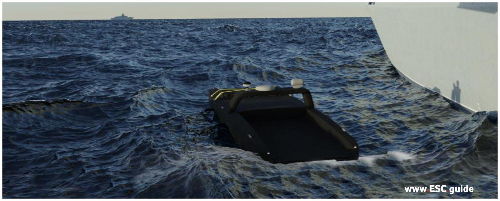 MANTAS autonomously heads out to next ship.