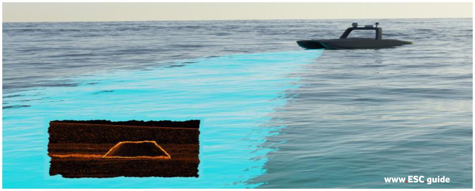 MANTAS forward looking sonar locates a possible target.