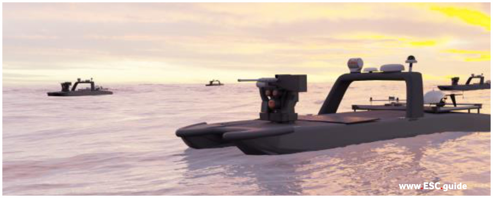MANTAS Defenders address oncoming fast attack vessels.