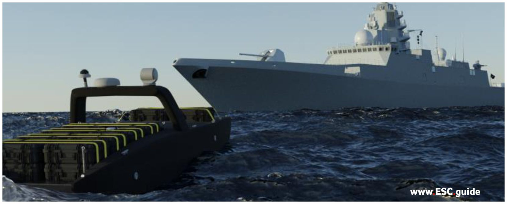 MANTAS approaches the ship.