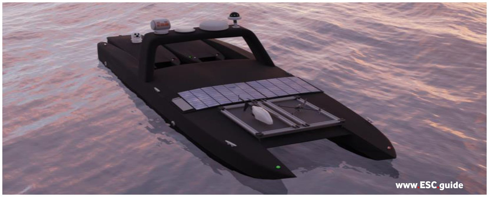 MANTAS T38 USV configuration with accompanying T12s.