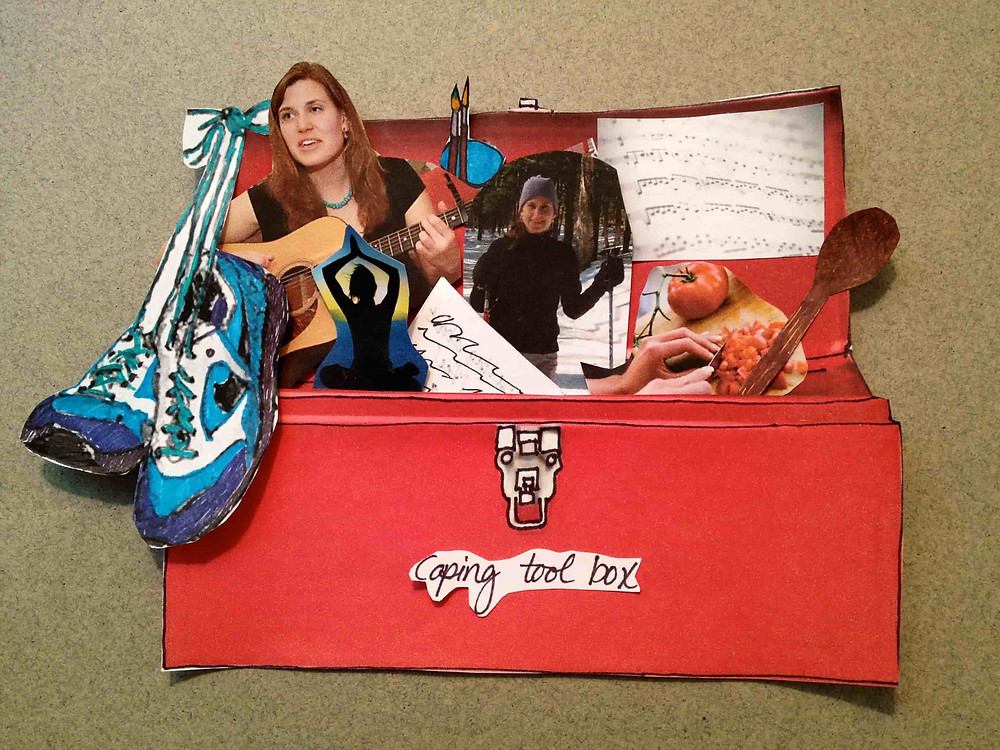 Mindful Art Studio's example of a coping oolbox for emotional regulation