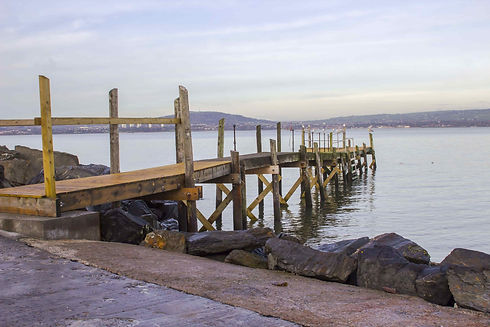 Seapark Coast Jetty in the water at Holywood, County Down
