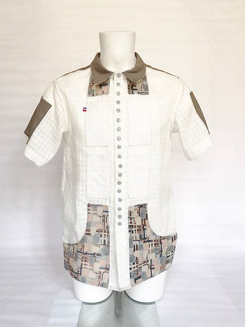CHEMISE LIN 8 POCHES