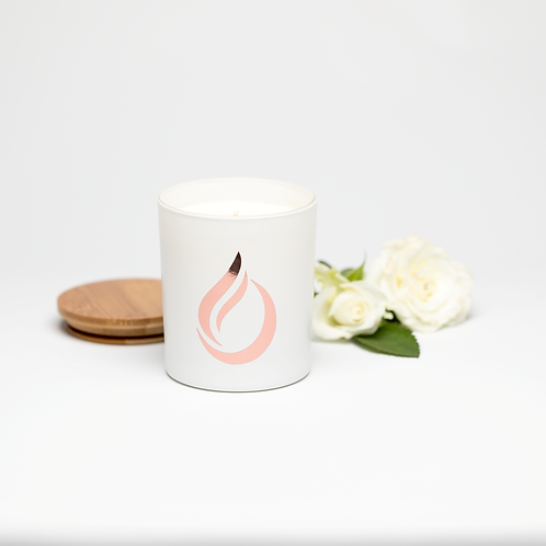Aromatherapy 'Bloom' White Soy Candle