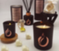 black collection candles wax melts luxury room diffusers