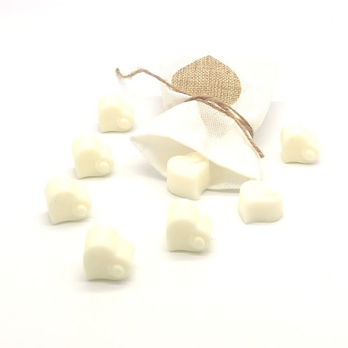 Soy wax heart melts