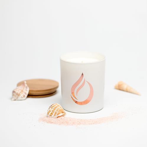 Aromatherapy 'Sea Walk' White Soy Candle