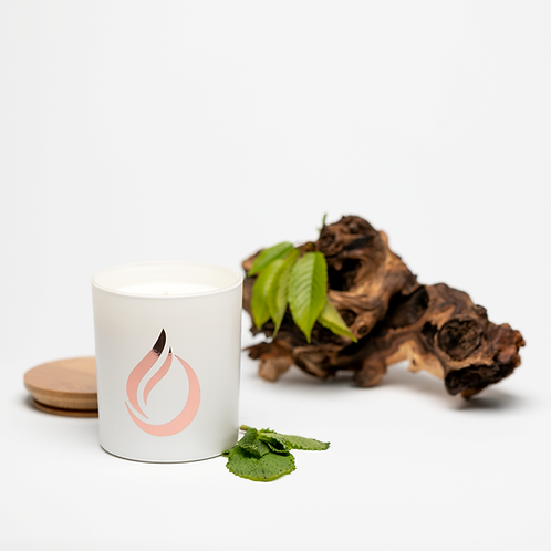 Aromatherapy 'Breathe' White Soy Candle