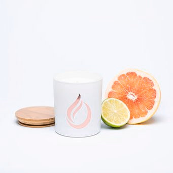 Aromatherapy 'Citrus Breeze' White Soy Candle
