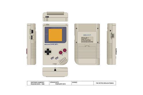 1989 - Nintendo Gameboy - Technical Art Print