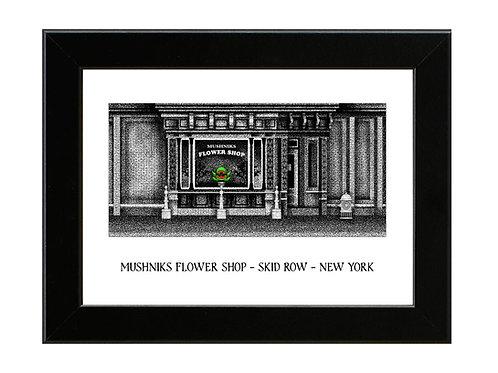 Mushniks Flower Shop - Little Shop of Horrors - Framed Art Print