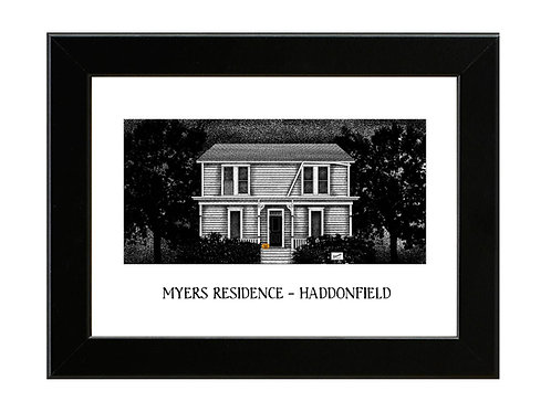 Michael Myers House - Halloween - Framed Art Print