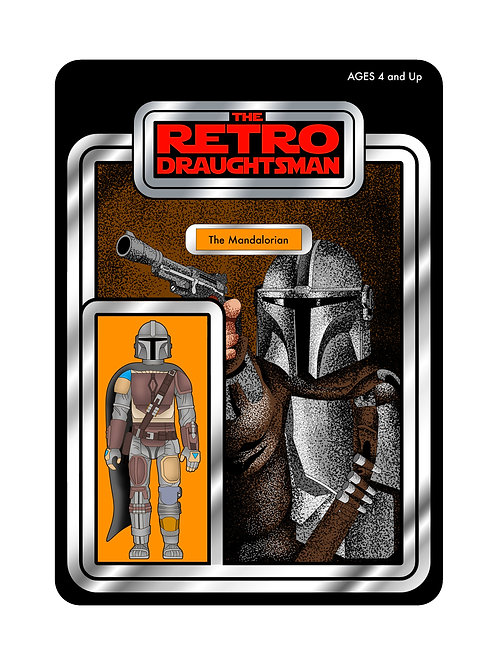 Limited Signed Mandalorian Print (Vintage Figure Variant) ONLY 25 AVAILABLE