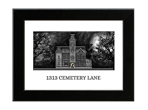 Addams Family Mansion - Framed Art Print