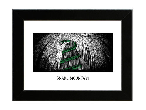 Snake Mountain - Framed Art Print