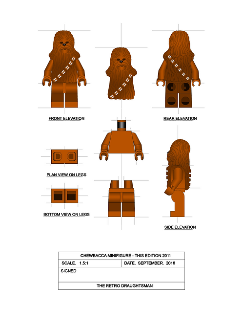 Chewbacca - Minifigure - Art Print