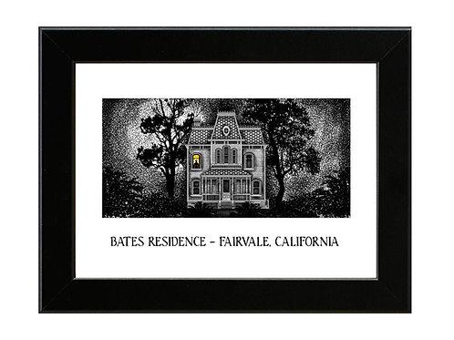 Psycho - Norman Bates Residence - Framed Art Print