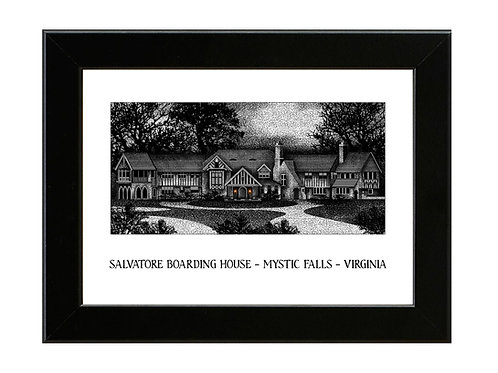 Salvatore House - The Vampire Diaries - Framed Art Print