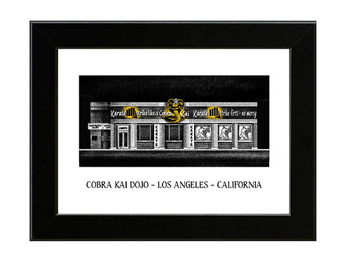 Cobra Kai Dojo - Karate Kid - Framed Art Print