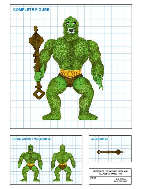 Masters of the Universe - Moss Man - Art Print