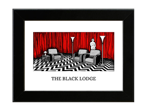 Twin Peaks - The Black Lodge - Framed Art Print