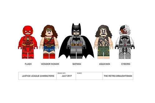Justice League - Minifigures - Art Print