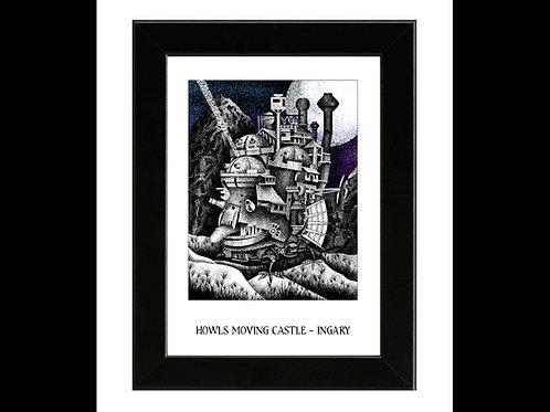 Howls Moving Castle - Framed Art Print