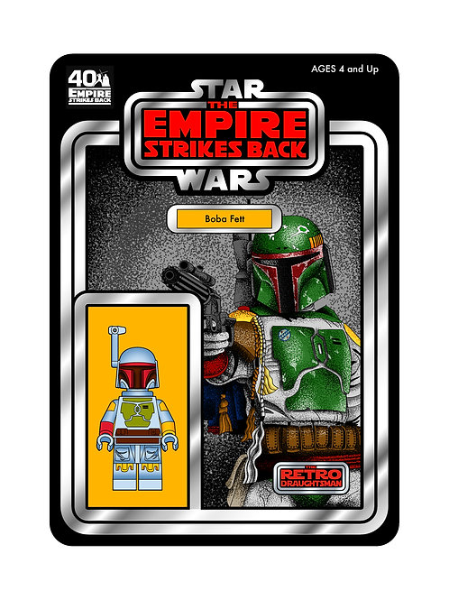 Limited Signed 40th Anniversary Boba Fett Print ONLY 10 AVAILABLE