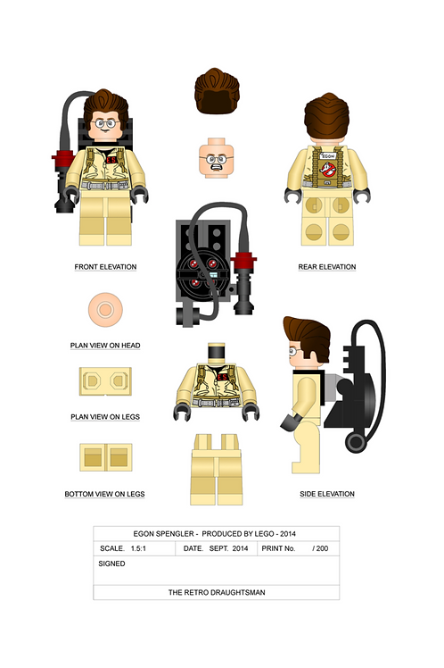 Ghostbusters - Minifigures - 1.5:1 Scale Print Set