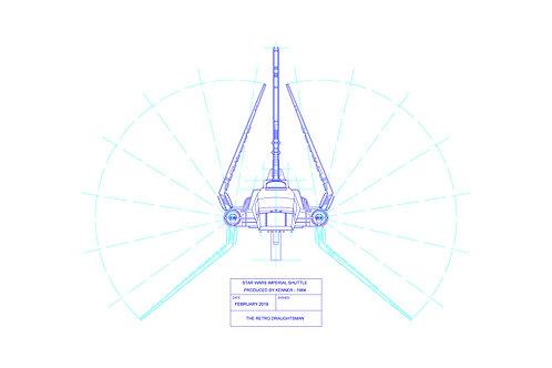 1984 - Kenner - Imperial Shuttle - Single Print