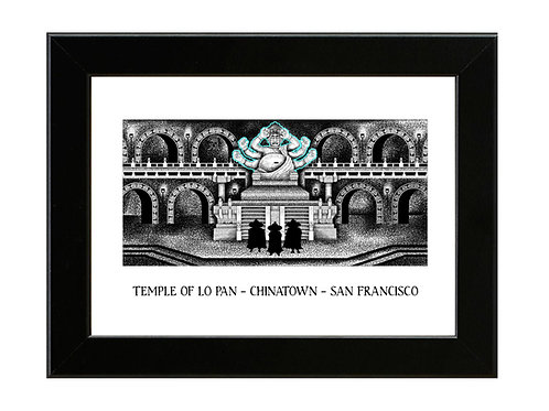 Temple of Lo Pan - Big Trouble in Little China - Framed Art Print
