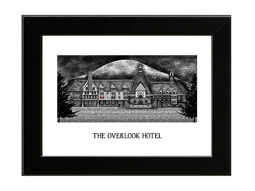 The Overlook Hotel - Framed Art Print