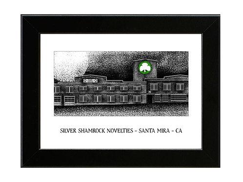 Silver Shamrock Factory - Halloween 3 - Framed Art Print