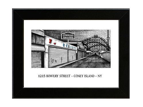 1215 Bowery Street - MR ROBOT - Framed Art Print