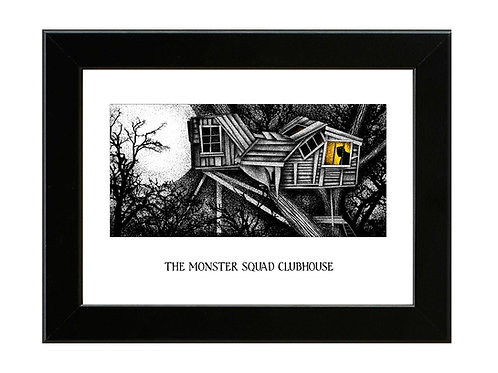 The Monster Squad Clubhouse - Framed Art Print