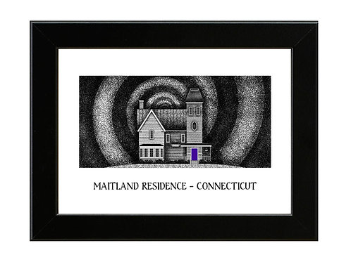 The Maitlands House - Beetlejuice - Framed Art Print