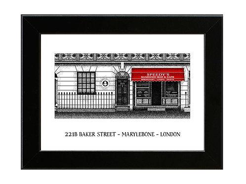221B Baker Street - Sherlock - Framed Art Print