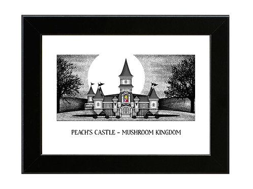 Peach's Castle - Super Mario - Framed Art Print