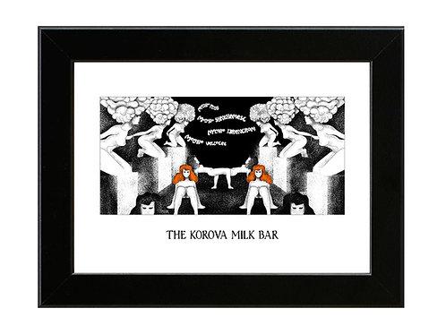 Korova Milk Bar - Clockwork Orange - Framed Art Print