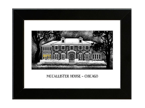 McCallister House - Home Alone - Framed Art Print