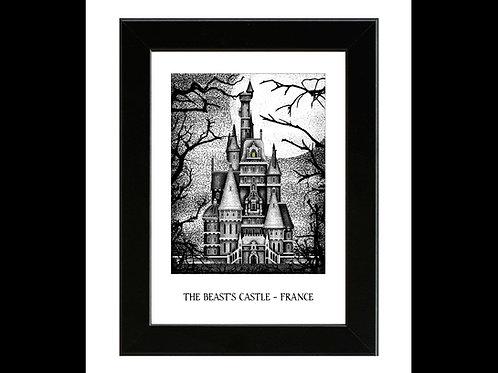 The Beast's Castle - Beauty and the Beast - Framed Art Print