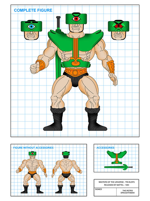 Masters of the Universe - Tri-Klops - Art Print