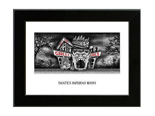 Dante's Inferno Room - Beetlejuice - Framed Art Print