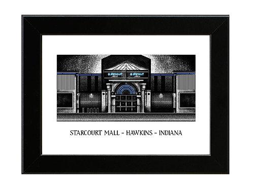 Stranger Things - Starcourt Mall - Framed Art Print